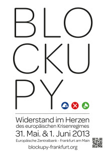 Blockupy 2013 Warmup Plakat