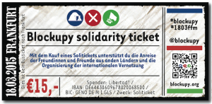 Blockupy Soliticket 2015
